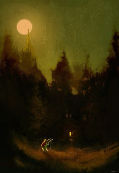 Stargazers. #pascalcampionart _Wow.. so many stars ! _I know, hu? _I'll never be able to see them all _I know. Each time you look at them, you see something different, even if they have not changed in millions of years! -That's awesome. _I think so...