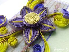 Handmade greeting card/ Quilling card/ Unique by PaperMagicByJR