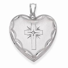 NEW-STERLING-SILVER-HEART-WITH-CROSS-LOCKET-01-CT-DIAMOND-4-67g-PENDANT-1-15