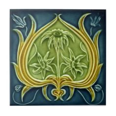 V0002 Victorian Antique Reproduction Ceramic Tile