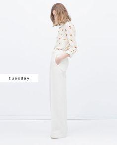 #zaradaily #tuesday #woman #shirts #trousers