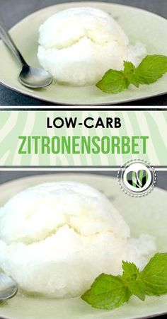Low carb lemon sorbet - www.de - The lemon sorbet is low carb, gluten free and sugar free. Especially in summer it is a great cool-d - Low Carb High Fat, Low Carb Keto, Paleo Dessert, Raw Food Recipes, Low Carb Recipes, Grilling Recipes, Breakfast Low Carb, Lemon Sorbet, No Sugar Diet