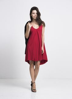 au lait | Premium Nursing and Breastfeeding Wear | The Going Home Dress in Red | www.aulaitshop.com