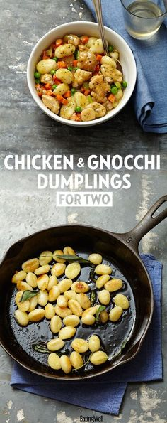 Here we use tender gnocchi in place of homemade dumplings in this rich and warming chicken and vegetable stew recipe.