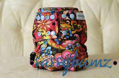 Sassybumz Calypso Floral 3 Snap Rise One Size Drawstring Backpack, Backpacks, Floral, Bags, Handbags, Flowers, Backpack, Flower, Backpacker