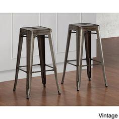 Tabouret Vintage Bar Stools (Set of 2)   Overstock.com Shopping - Great Deals on Bar Stools