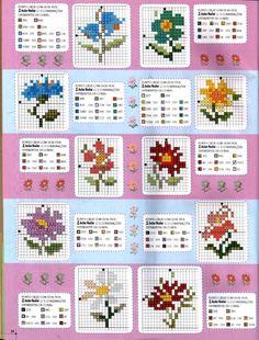 Gallery.ru / Фото #23 - avvvv - giasemi... Cross stitch flowers!!