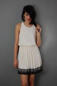 Ivory Lace Hem Dress