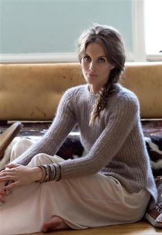 1412: Modell 1 Genser i halvpatent #Silk #knit #strikk