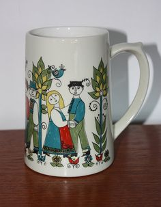 Scandinavian Figgjo Flint Norway Saga by janestangerinehouse Scandinavian Folk Art, Glass Ceramic, Pottery Art, Finland, Saga, Norway, Mid Century, Hand Painted, House Design