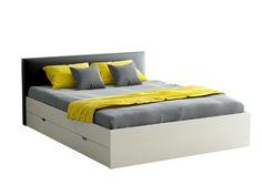 Кровать двуспальная с мягким изголовьем и четырьмя выкатными ящиками. #jewelry, #women, #men, #hats, #watches, #belts