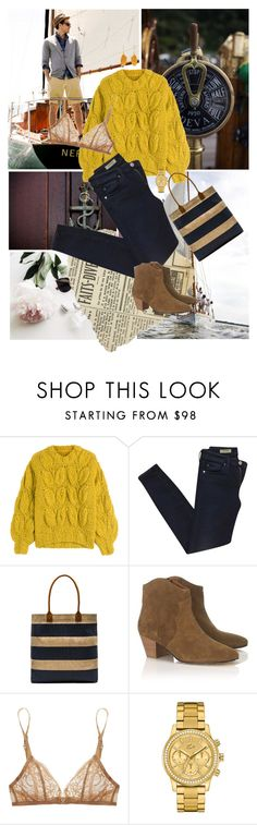 """Untitled #294"" by sanja1992 on Polyvore featuring J.Crew, Maison Margiela, AG Adriano Goldschmied, APOLIS, Étoile Isabel Marant, Deborah Marquit and Lacoste"