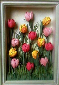 tutorial.....Master klasspo tulips in quilling technique. Comments: LiveInternet - Russian Service Online Diaries