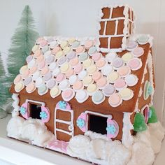 Sweet Pastel Gingerbread house made by LayerCakeShop.com  <3