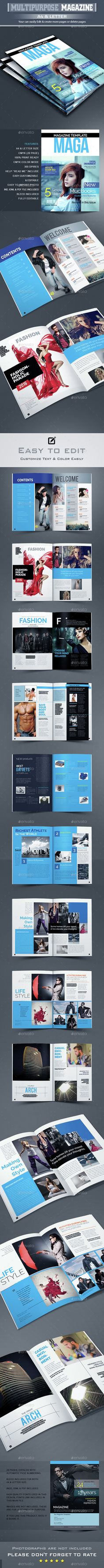 Magazine Template InDesign INDD. Download here: http://graphicriver.net/item/magazine-template-/14823886?ref=ksioks