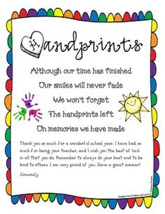 End of the Year Poem Goodbye Letter Freebie by Cameron Brazelton Preschool Poems, Preschool Classroom, Preschool Activities, Future Classroom, Classroom Ideas, Kindergarten Graduation Poems, Kindergarten Poems, Kindergarten Readiness, Graduation Crafts