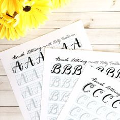 Capital Letters Brush Lettering (Uppercase) Practice Sheets