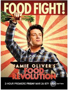 "jamie oliver- shows to watch ""Food Revolution"""