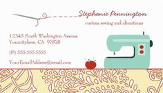 Fun Sewing Fashion Design Retro Green Sewing Machine Business Cards http://www.zazzle.com/fun_sewing_fashion_design_customized_business_card-240675096343583059?rf=238835258815790439&tc=GBCSewing1Pin