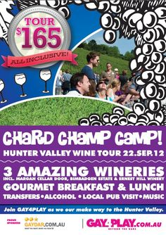 Chard!! Champ!! Camp!! 2012 - Gay4Play Hunter Valley Wine Tour - September 2012 - www.g4p.com.au