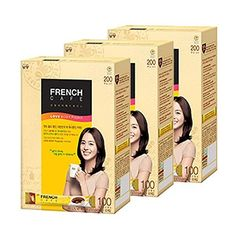 French Cafe Instant Arabica Coffee Mix w/ Nonfat Milk - 100-stick Box -- Learn more by visiting the image link.