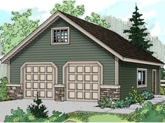 Build your ideal garage plan with 0 bedrooms(s), 0 bathroom(s), 2 story, and 278 total square feet from Eplans exclusive assortment of garage plans.