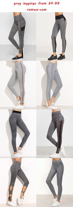 casual grey leggings - romwe.com