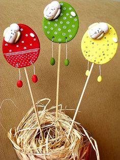 Easter rams I – Light Ideas Eid Crafts, Clay Crafts, Easter Crafts, Preschool Crafts, Diy Crafts For Kids, Art For Kids, Handmade Polymer Clay, Handmade Crafts, Salt Dough Crafts