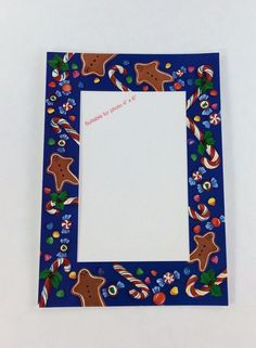 12 Pack Photo Insert Christmas Cards 4 x 6 Candy Cane and Cookies #CrownPointGraphics #Christmas