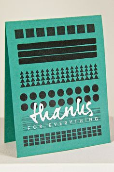 Thanks For Everything Card by Erin Lincoln for Papertrey Ink (June 2014)