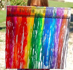 Melted Crayons on Canvas fun...