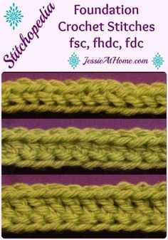 Foundation crochet stitches are a great alternative to starting your work with chains and then working into those chains.