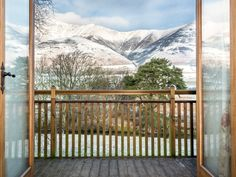The unbeatable view to Blencathra from the balcony
