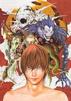 Takeshi Obata, Death Note, Blanc et Noir, Light Yagami, Ryuk