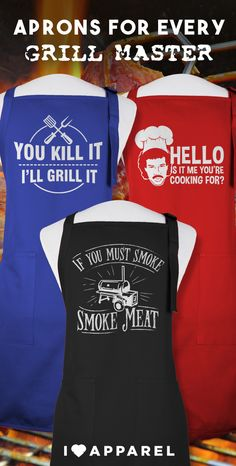 Our grilling aprons will have everyone telling you how awesome it is. Buy any two items on I Love Apparel and get free shipping.