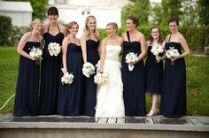 Long navy bridesmaids dresses | Liga Photography