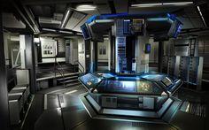 3ds max futuristic sci fi laboratory cool image i for Futuristic control room