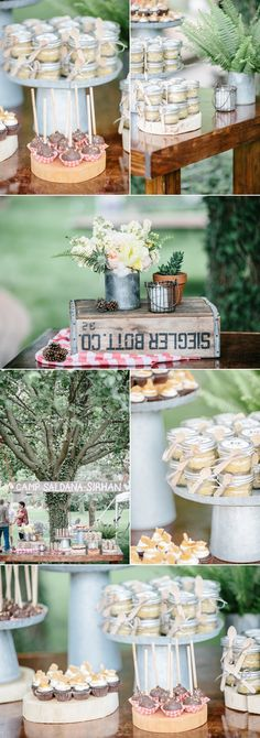 Love the camping themed wedding ideas!