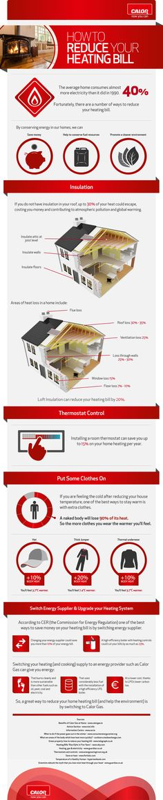 How To Reduce Your Home Heating Bill [Infographic]