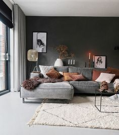 Low Budget Home Decoration Ideas Key: 1096102379 Living Room Colors, Living Room Grey, Home Living Room, Apartment Living, Living Room Designs, Living Room Decor, Elegant Living Room, Modern Living, Home And Deco
