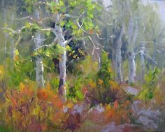 """Aspen Dance"" 8""x10"" oil on canvas panel Plein air painting © Becky Joy sold"