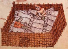 Detail from The Luttrell Psalter, British Library Add MS 42130 (medieval Medieval Crafts, Medieval Art, Illuminated Letters, Illuminated Manuscript, Renaissance, Old Best Friends, Illumination Art, Medieval World, Medieval Manuscript