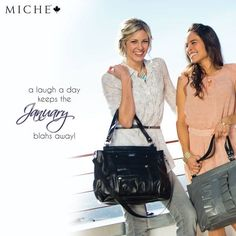 "How do you beat the ""January Blahs""? *Miche Canada* #michecanada #michefashion #fashion #style #purses #handbags #accessories"