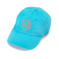 Personalized Teal baseball cap  Christmas  by thepersonalizedstore #Monogrammed #Hat #Wedding