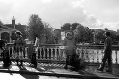 """""""Artists-on-the-Bridge-BW"""" by steppeland -  Amsterdam street photography"""
