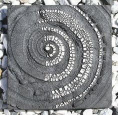 Patricia Shone - Hand Built, Raku Fired Ceramics - wall tile thrown & altered, 2010
