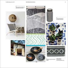 Trend Bible - Home & Interior Trends S/S 2017 monochromatic prints, african influence: