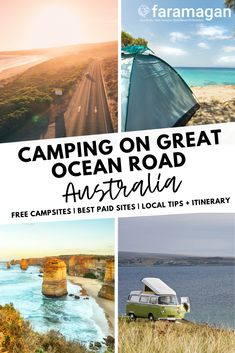 A detailed guide to camping on Great Ocean Road. Includes the best paid campsites, what to pack and tips for free camping on Great Ocean Road. Outback Australia, Coast Australia, Australia Travel, Campervan Australia, Visit Australia, Camping Great Ocean Road, Beach Camping, Family Camping, Parks