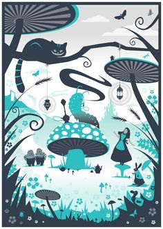 Resultado de imagen de alice in wonderland illustrations