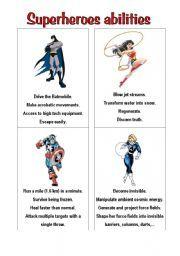 English Worksheets: superheroes 2